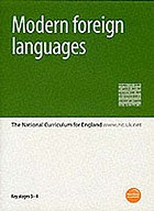 Modern foreign languages : the National curriculum for England : Key stages 3-4