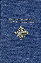 The Folger Library edition of the works of Richard HookerOf the laws of ecclesiastical polity