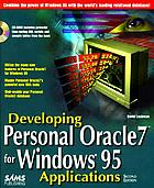 Developing Personal Oracle7 for Windows 95 applications