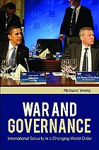 War and governance international security in a changing world order
