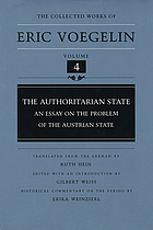 The authoritarian state : an essay on the problem of the Austrian State