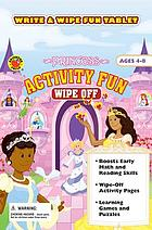 Princess activity fun wipe off