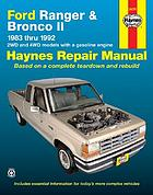 Ford Ranger & Bronco II : automotive repair manual