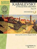 24 pieces for children, op. 39, for the piano
