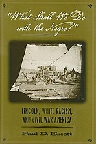 """What shall we do with the Negro?"" : Lincoln, white racism, and Civil War America"