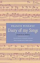 Diary of my songs = Journal de mes mélodies