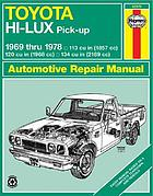 Toyota Hi-Ace and Hi-Lux owners workshop manual