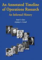 An annotated timeline of operations research : an informal history
