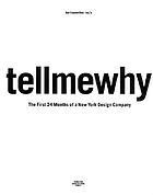 Karlssonwilker inc's tellmewhy the first 24 months of a New York design company