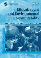 Ethical, social and environmental accountability : corporate governance, the role for accountants