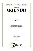Faust; a lyric drama in five acts