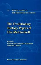 The evolutionary-biology papers of Elie Metchnikoff