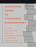 European cases in strategic management