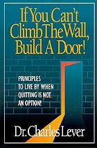 If you can't climb the wall, build a door