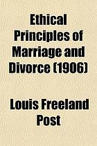 Ethical principles of marriage and divorce