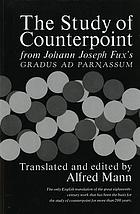 The study of counterpoint : from Johann Joseph Fux's Gradus ad parnassum