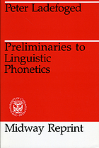 Preliminaries to linguistic phonetics