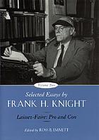 Selected essays by Frank H. Knight