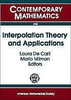 Interpolation theory and applications : a conference in honor of Michael Cwikel, March 29-31, 2006, and AMS special session on interpolation theory and applications, AMS sectional meeting, Florida International University, April 1-2, 2006, Miami, Florida