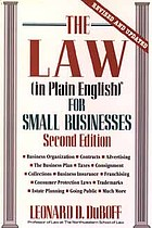 The law (in plain English) for small businesses