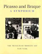Picasso and Braque, a symposium