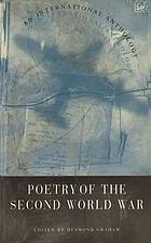 Poetry of the Second World War : an international anthology