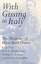 With Gissing in Italy : the memoirs of Brian Ború Dunne