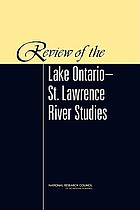 Review of the Lake Ontario-St. Lawrence River Studies