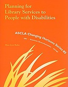 Planning for library services to people with disabilities