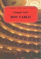 Don Carlo : opera in four acts