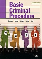 Basic criminal procedure; cases, comments and questions