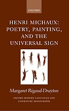 Henri Michaux poetry, painting, and the universal sign
