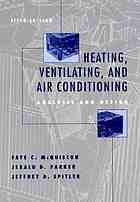 Heating, ventilating, and air conditioning : Analysis and design