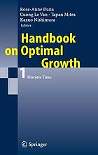 Handbook of optimal growth