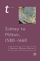 Sidney to Milton, 1580-1660