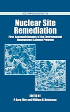Nuclear site remediation : first accomplishments of the Environmental Management Science Program