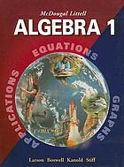 Algebra 1 applications, equations, graphs