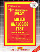 New Rudman's questions and answers on the MAT, Miller analogies test : graduate level
