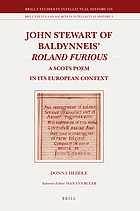 John Stewart of Baldynneis Roland Furious a Scots poem in its European context