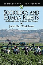 Sociology and human rights : a bill of rights for the twenty-first century