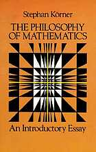 The philosophy of mathematics, an introductory essay
