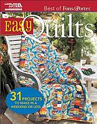 Best of Fons & Porter : easy quilts