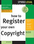 How to register your own copyright : with forms