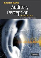 Auditory perception : a new analysis and synthesis