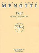 Trio for violin, clarinet, and piano