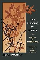 The flowers of Tarbes, or, Terror in literature