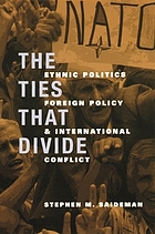 The ties that divide : ethnic politics, foreign policy, and international conflict