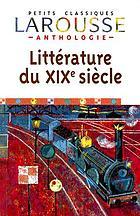 Anthologie de la littérature française XIXe siècle