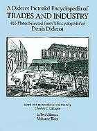 A Diderot pictorial encyclopedia of trades and industry : manufacturing and the technical arts in plates, selected from L'Encyclopédie, ou, Dictionnaire raisonne des sciences, des arts et des métiers, of Denis Diderot