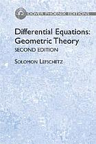 Differential equations; geometric theory